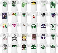 Funny Alcohol and Marijuana Shirts California Bear&Cali Republic Star ALL WHITE