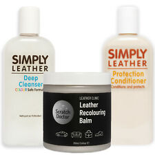 Leather Renovation Repair Kit for Faded & Worn Sofa, Car Interior, Armchair etc.