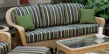 Outdoor Patio Garden Furniture Mojave Resin Wicker Sofa - Cushions Color Choice