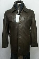 NWT $795 Andrew Marc New York Brown Leather Trench Coat Jacket Shearling S-XXL