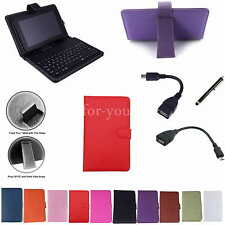 "Colorful Keyboard PU Case Cover+Stylus For 7"" Sprint Optik 2 Android Tablet PC"
