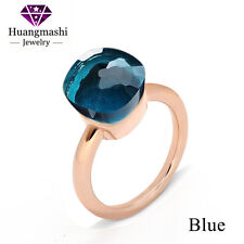 Classical Pomellato Ring Luxury Blue Crystal Ring For Friends Best Gift PR001