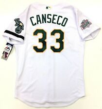 JOSE CANSECO AUTHENTIC OAKLAND A's 1989 WORLD SERIES MAJESTIC JERSEY