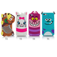 For apple iphone 5 5S 5C hot sale 3D cartoon silicon phone case cover skin