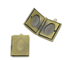 Wholesale HOT! Jewelry Bronze Tone Rectangle Photo Locket Frame Pendants