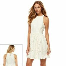 LAUREN CONRAD FLORAL LACE FIT & FLARE DRESS SIZE 8;NWT