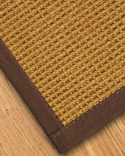 Portugal Natural Sisal Rug - Brown Border [Available in Custom Sizes]