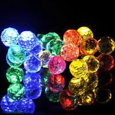 Frosted Spheres Solar Powered String Light Ball-Shaped Yard Garden Party Lamp