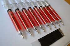 8 NOVELTY SYRINGE PENS (BLOOD OR MIXED)- Great Value Halloween Nurses Party Bags