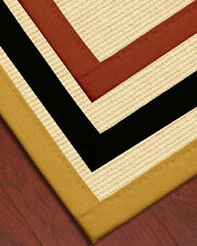 Deco Natural Fiber Sisal Rug [Available In Custom Border Color & Sizes]