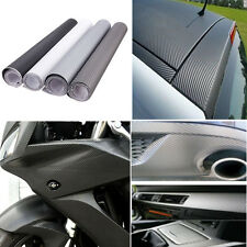 "30x152cm 12""x60"" 3D Carbon Fiber Vinyl Wrap Film Car Vehicle Sticker Sheet Roll"