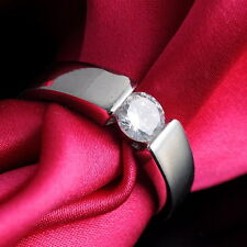 Size 7,8 Jewelry White Sapphire 18K White Gold Filled Engagement Ring New R7