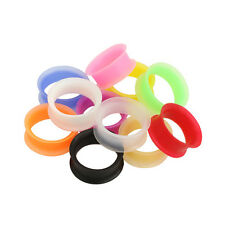 Silicone Eyelet Plugs Skin Body Jewelry Soft Ear Blue Red Clear Black White More