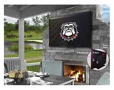 Georgia Bulldogs College Black Outdoor TV Cover by HBS