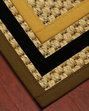 Tanzania Natural Fiber Sisal Rug [Available In Custom Border Color & Sizes]