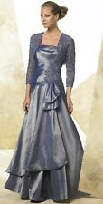 Montage Mon Cheri 26920 Wedgewood Evening Dress Ball Gown 2-pc Size 10 New Blue