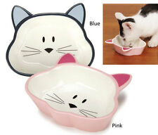 CERAMIC CAT DISH, Cat is Good, Food Bowl 5oz, Cat Shaped Feeder