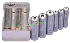 4x AA 3000mAh + 4x AAA 1800mAh 1.2V Ni-MH Grey Rechargeable Battery +Charger