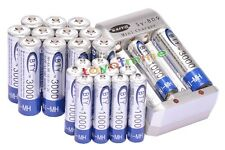 12AA 3000mAh +12AAA 1000mAh NI-MH 1.2V rechargeable battery for MP3 BTY+Charger