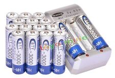 16x AA Ni-MH 3000mAh rechargeable battery BTY+AA AAA Rechargable battery Charger