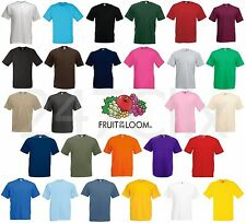 Fruit of the Loom Valueweight Men's Women's Blank Plain T-Shirt Tee FOTL