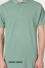 AMERICAN APPAREL pq412 MENS WOMENS  COTTON PIQUE TENNiS POLO SHORT SLEEVE SHiRT
