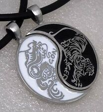 Original design Dragon Tiger Japanese Split Yin Yang Pewter Pendant Friendship