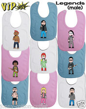 VIPwees Baby Feeding Bib Male Solo Legends Inspired Caricatures Choose Design