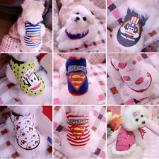 Fashion Pet Puppy Dog Cat Coat Clothes T shirt Costumes 7 Style Cute