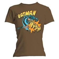 Batman - Wham Logo Ladies Skinny T-Shirt - New & Official DC Comics In Bag