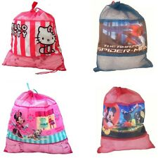 Disney Mesh Draw String Bag SCHOOL SPORTS KIDS GYM SACK SWIMMING KIT DRAWSTRING