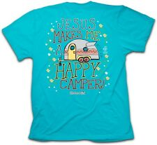 Jesus Makes Me a Happy Camper Cherished Girl Christian Women Religious T-Shirt