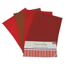 Dovecraft 8 A4 Felt Sheet Multipacks Various Colours Quality Craft Fabric