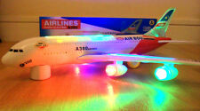AIRBUS A380 AIRLINES MODEL AEROPLANE ELECTRIC TOY WITH LIGHTS SOUNDS-BOY/GIRL UK