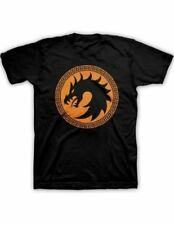Adult Black Science Fiction Action Movie Ender's Game Dragon Symbol T-Shirt Tee
