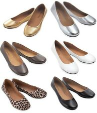 JUNIOR WOMEN'S CASUAL COMFORT ROUND TOE SLIP ON BALLET FLAT SHOES   5-10