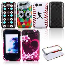 Cool Design Rubberized Hard Snap on Cover Case for LG Optimus Zone 2 VS415 L34C