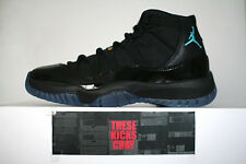 AIR JORDAN 11 RETRO GAMMA BLUE BLACK VARSITY MAZE 378037-006 US 7 - 13