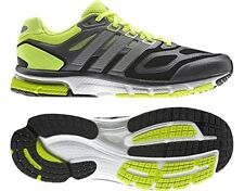 Mens Adidas Supernova Sequence 6 Running Sneakers New, Black Silver Lime G97479