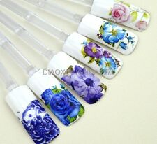 Fashion 3D Design Beauty Flower Water Transfer Nail Art Decoration Decal Tips XF