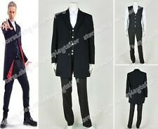 Doctor Who The 12th Twelfth Dr.Peter Capaldi Cosplay Costume Trench Coat Black