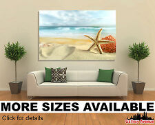 Wall Art Canvas Picture Print - Starfish in Sand on the Beach 3.2