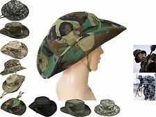 Camouflage Military Wide Brim Bucket Camping Hunting Boonie Hat Outdoor Cap
