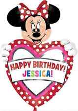 "Minnie Mouse Fashion Personalisable 33"" Happy Birthday Foil Party Balloon"