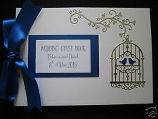 BIRDCAGE DESIGN WEDDING GUEST BOOK / planner personalised your own colourscheme
