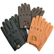 Prime top quality real soft leather mens driving gloves black brown tan 514 new