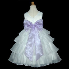 UKM1D75 Lilac Young Bridesmaid Wedding Party Flower Girls Dress 1 to 14 Years