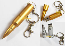 USB 2.0 Memory Stick Flash Pen Drive Metal Bullet 1GB 2 G 4G 8 GB 16 Giga