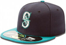 New Era MLB Seattle Mariners Cap 59fifty On Field Fitted Baseball Cap Men's