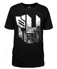 Transformers 4 Autobots Logo Black T-shirt Mens Short Sleeve Cotton Clothes New